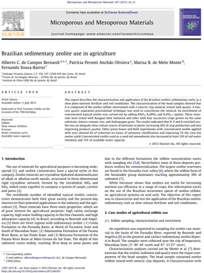 Brazilian sedimentary zeolite use in agriculture | Zeolife.gr