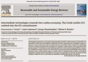 Intermediate technologies towards low-carbon economy -- The Greek zeolite CCS outlook into the EU commitments