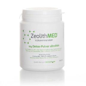 Ζεόλιθος MED® detox πολύ λεπτή πούδρα έως 10 μικρά - μικροϊονισμένος, για ανθρώπινη χρήση, 60 γραμμάρια | Zeolife.gr