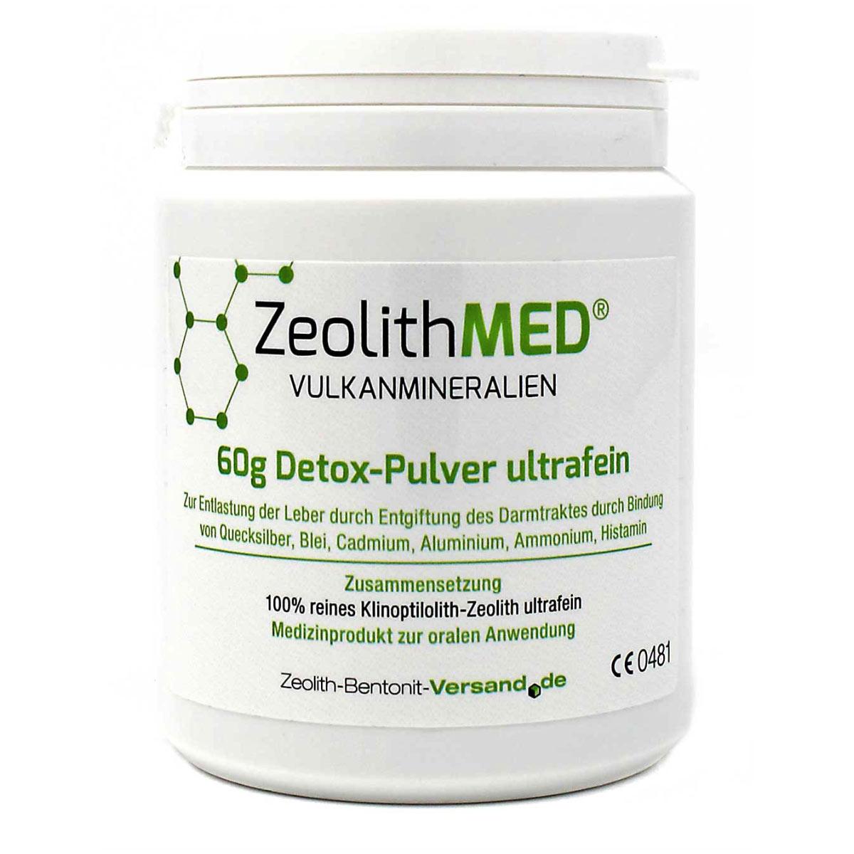 Ζεόλιθος MED® detox εξαιρετικά λεπτή πούδρα έως 10 μικρά
