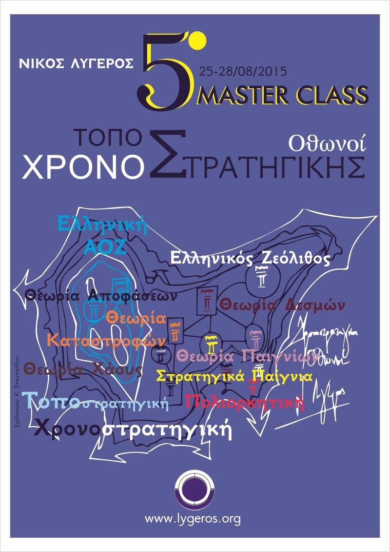 5ο Master Class Τοποστρατηγικής και Χρονοστρατηγικής. Οθωνοί, 25 - 28 Αυγούστου 2015