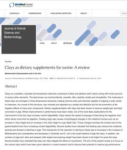Άργιλοι ως συμπληρώματα διατροφής για χοίρους: Μια αναθεώρηση (Clays as dietary supplements for swine: A review)