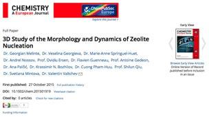 Τρισδιάστατη Μελέτη της μορφολογίας και Δυναμικής των πυρήνων του Ζεόλιθου (3D Study of the Morphology and Dynamics of Zeolite Nucleation)