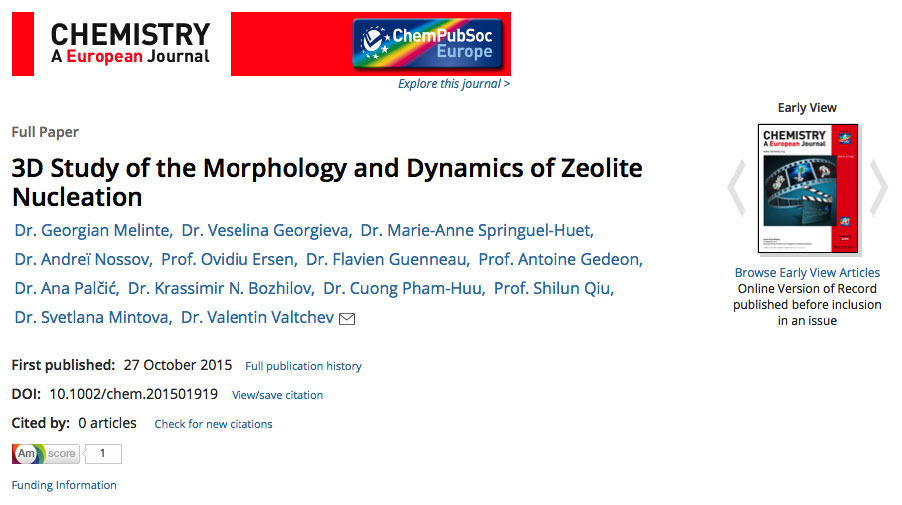 3D Study of the Morphology and Dynamics of Zeolite Nucleation