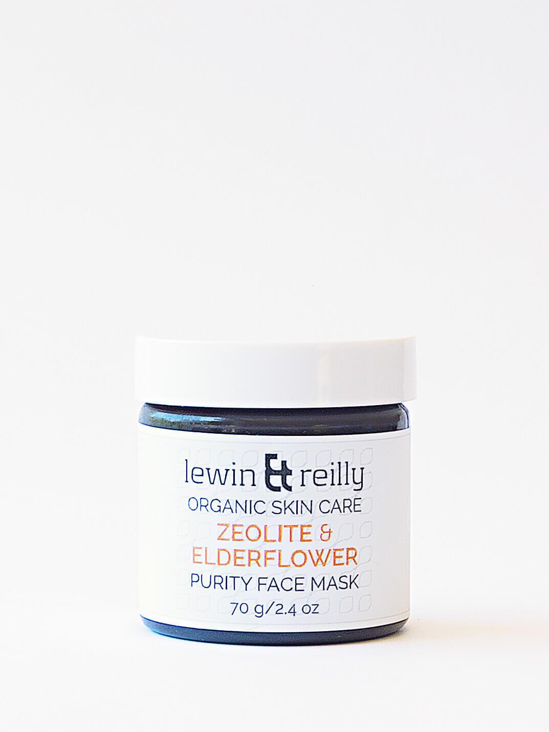 Levin & Reilly - Μάσκα καθαριότητας προσώπου - Ζεόλιθος & Elderflower (Purity face mask - Zeolite & Eldeflower)