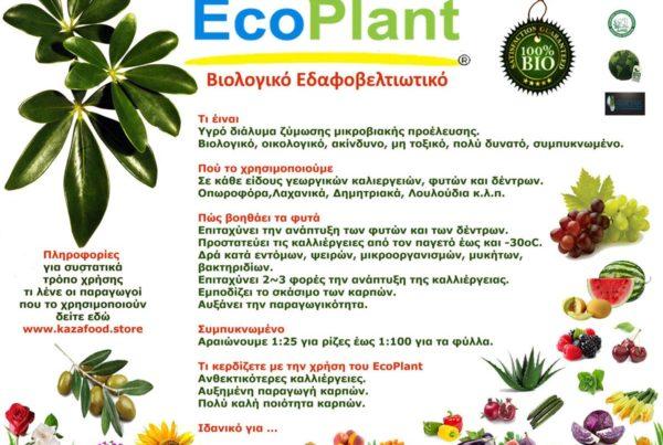 EcoPlant®, Νέο προϊόν - Βιολογικό βελτιωτικό για ψέκασμα και ενσωμάτωση με ζεόλιθο