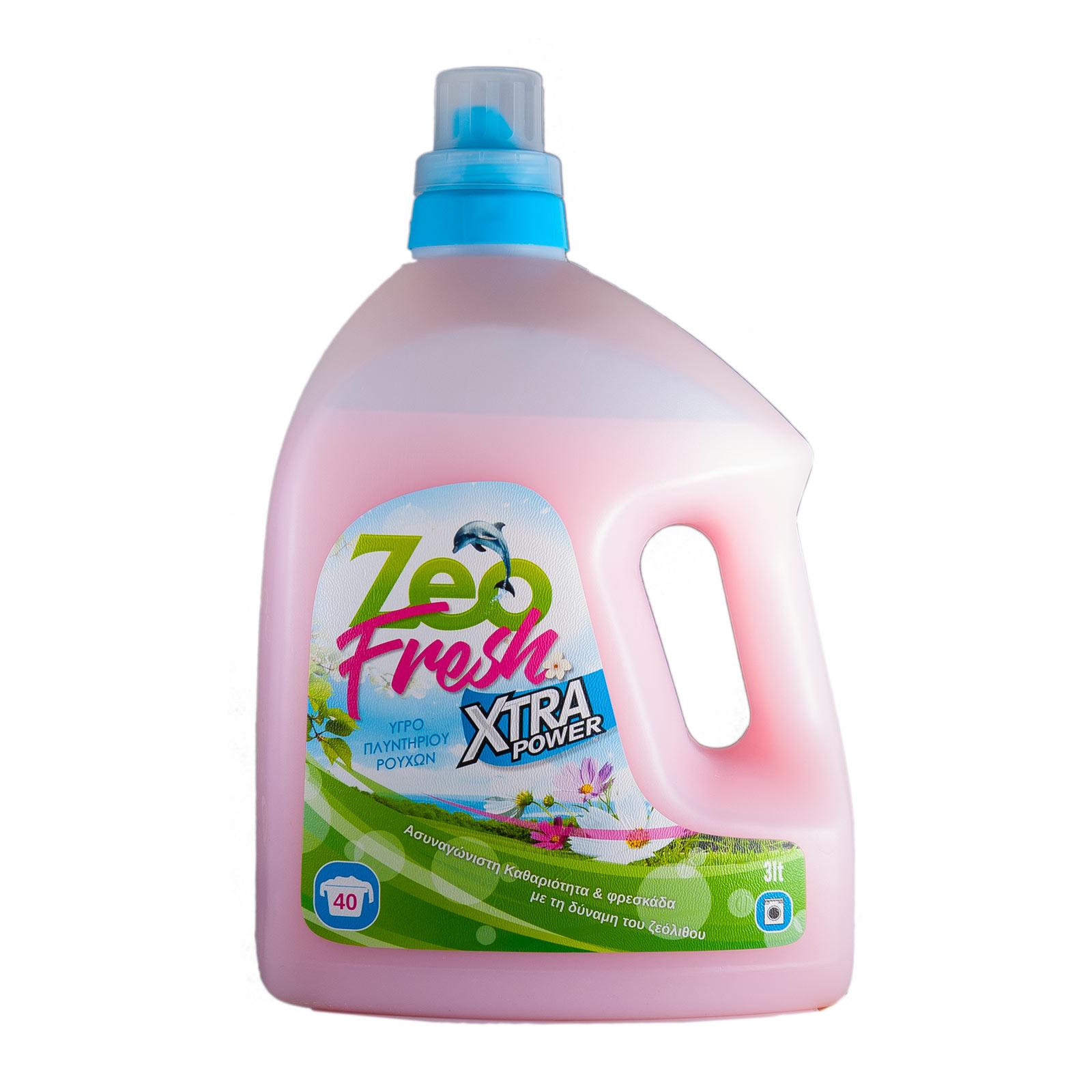 ZeoFresh – Υγρό απορρυπαντικό πλυντηρίου ρούχων – 3 λίτρα