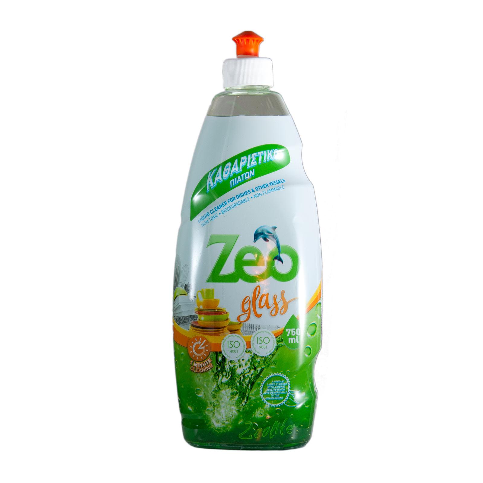 ZeoGlass – Υγρό απορρυπαντικό για πιάτα και λοιπά σκεύη – 750ml